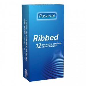 12 бр. Оребрени презервативи Pasante Ribbed