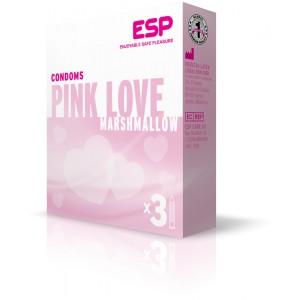 Розови презервативи с релеф и аромат ESP Pink Love 20 бр.
