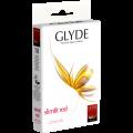 Веган презервативи Glyde Slimfit Red в червено 32 бр.