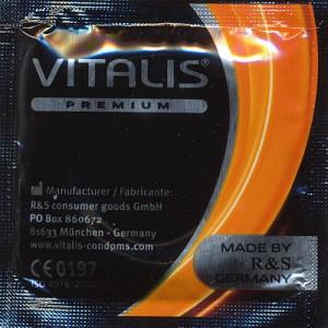 Презервативи златисти Vitalis Vanilla 20 бр.